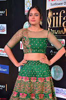Nandita Swetha in a tight Green Choli Ghagra at IIFA Utsavam Awards March 2017 ~ 017.JPG