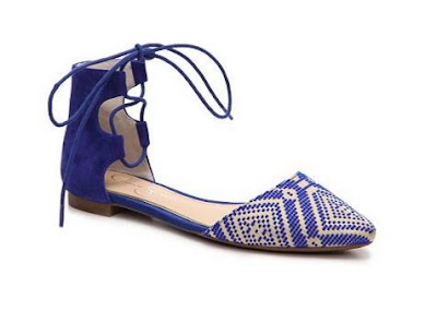 Jessica Simpson Blue tie up flats