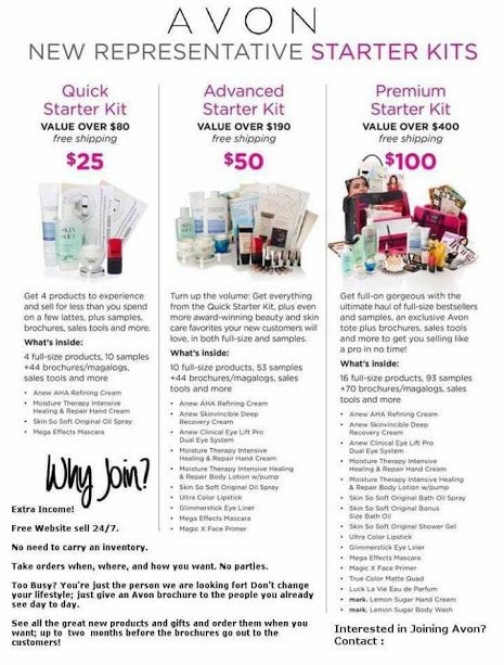 Avon Starter Kits as low as $25