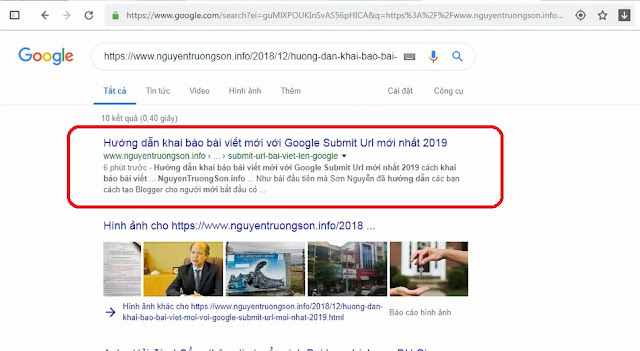 Hướng dẫn khai báo bài viết mới với Google (Submit Url) mới nhất 2019
