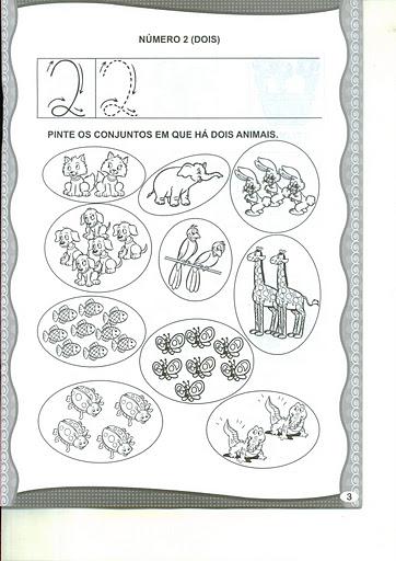 atividades com os numerais de 0 a 9 mundinho da criança