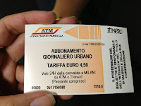 Milan Urban Day Ticket 48 hours 4.50 for ATM Metro trams buses