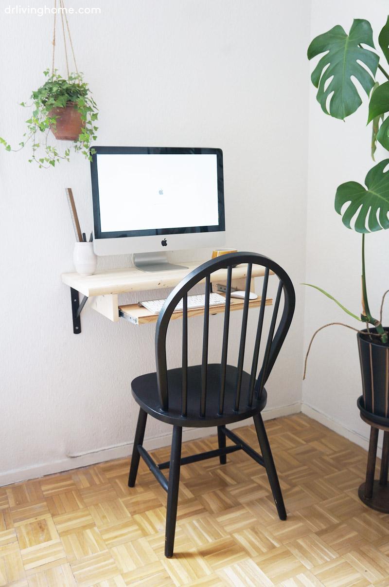 Diy escritorio de pared blog decoraci n con tu estilo for Ideas para decorar escritorio