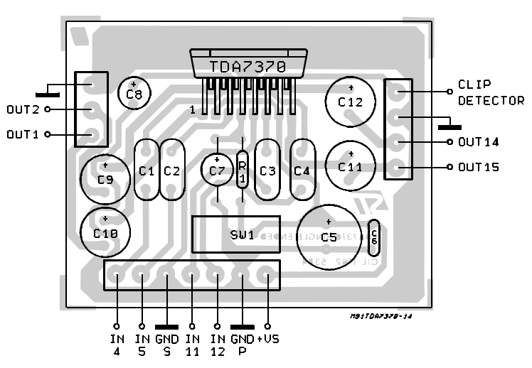4 x 6 5W QUAD POWER AMPLIFIER FOR CAR RADIO [] Diagram Guide