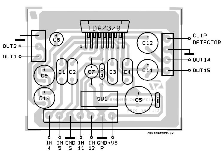 4 x 6.5W QUAD POWER AMPLIFIER FOR CAR RADIO