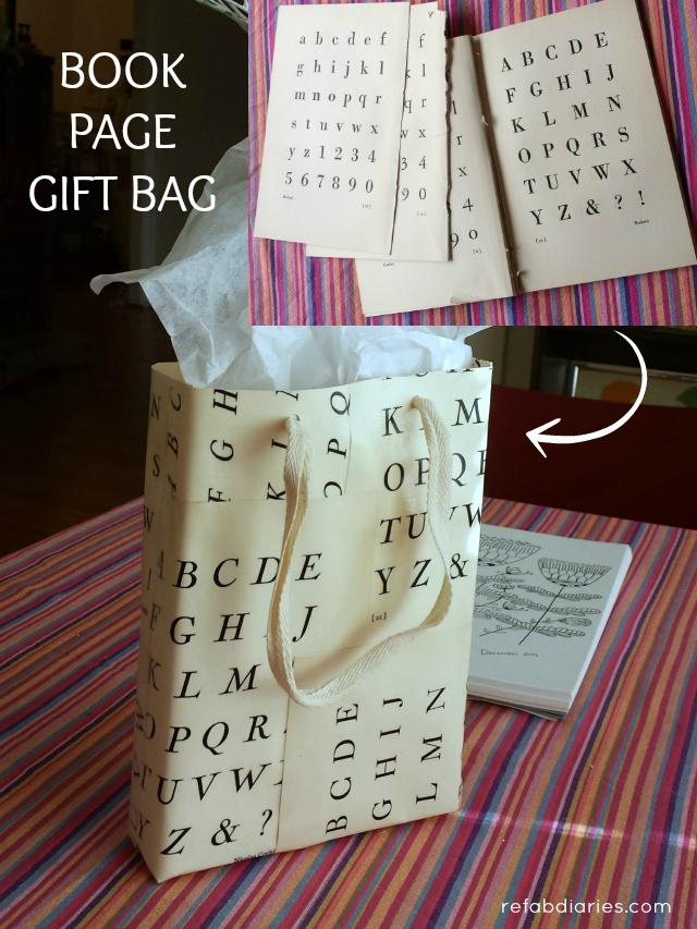 Upcycle: DIY book-page gift bag