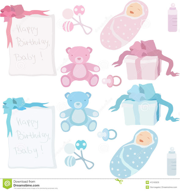 Baby Birth Accessories And Presents Stock Vector