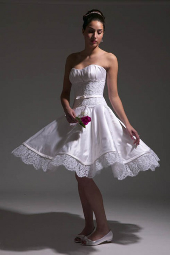 Vintage Short Wedding Dresses Designs 2012