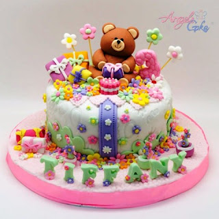 Contoh kue ulang tahun pertama buat anak tema beruang