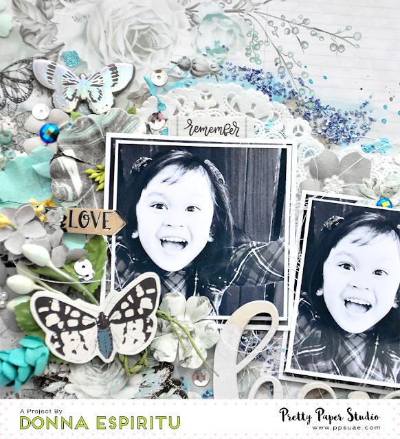 "Pretty Paper Studio: ""Hope and Believe"" Mixed Media Scrapbook Layout 