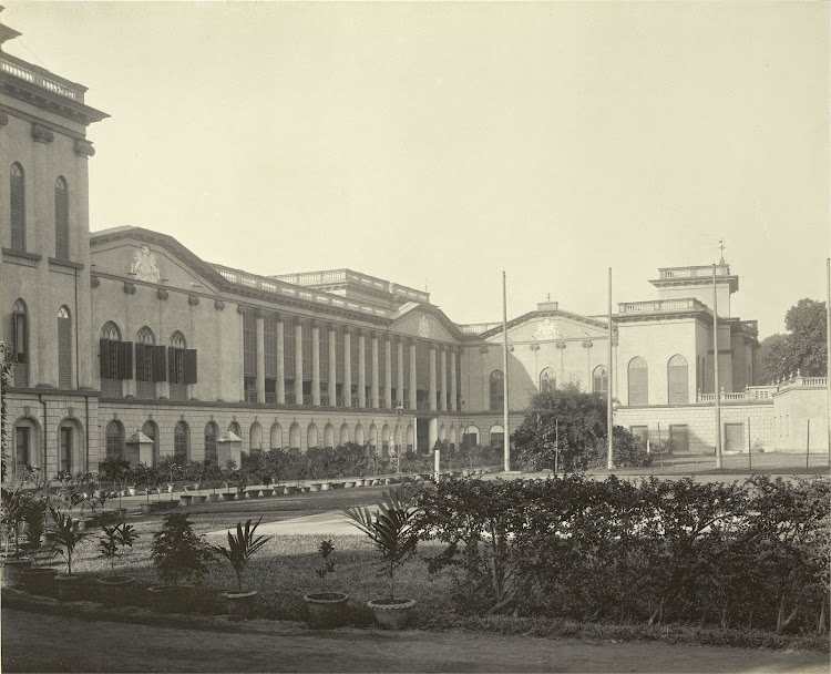 The Palace from the north side - Burdwan (Bardhaman), Bengal, 1904