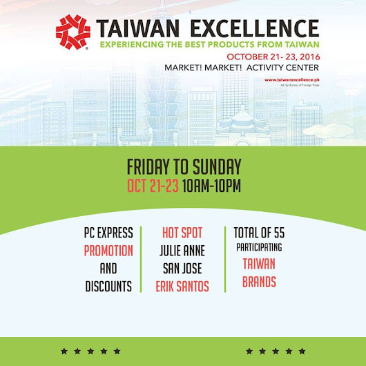 #FABEvents | Taiwan Excellence at Market! Market! - Oct 21-23, 2016