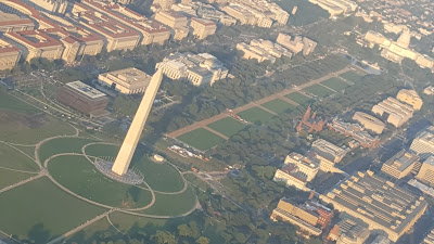 Washington Monument and U.S. Capitol from the plane ride home