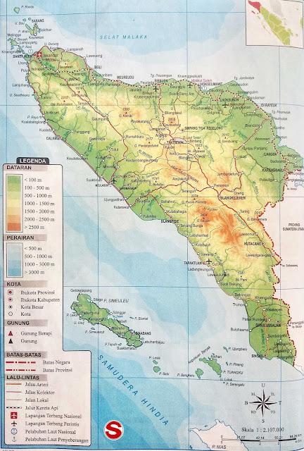 Gambar Peta Nanggroe Aceh Darussalam Lengkap Ikon dan Artinya