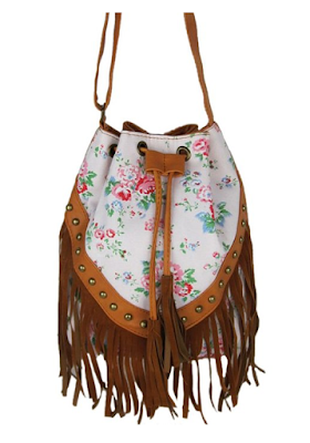 Floral Boho Hippie Gypsy fringe purse - $17.99 - Affordable Springtime Bohemian Fashion {Pastel Bohemian, Springtime Boho Fashion and Accessories, Bohemian Easter}