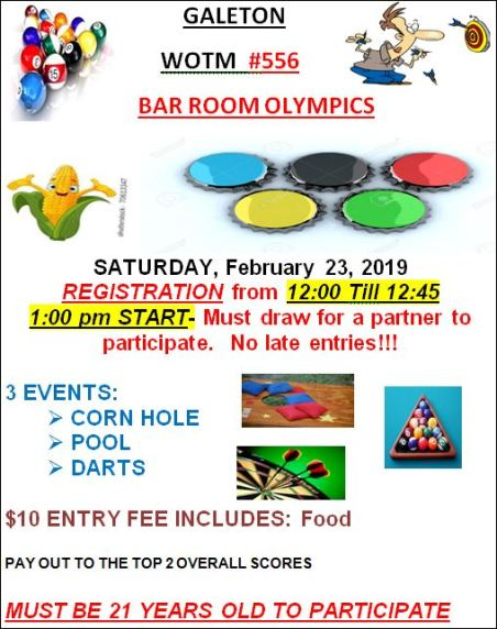 2-23 Bar Room Olympics, Galeton