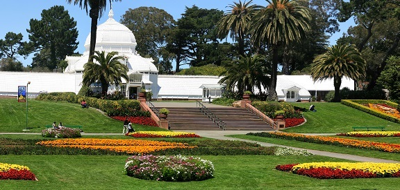 Jardins no Golden Gate Park em San Francisco