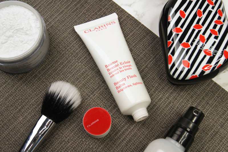 clarins beauty flash balm review swath before after skincare primer gel creme tightening brightening firming lifting hydrating smoothing multi-tasking product