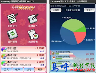 CWMoney APK / APP 下載,CWMoney Android APP Download,手機記帳軟體 APP