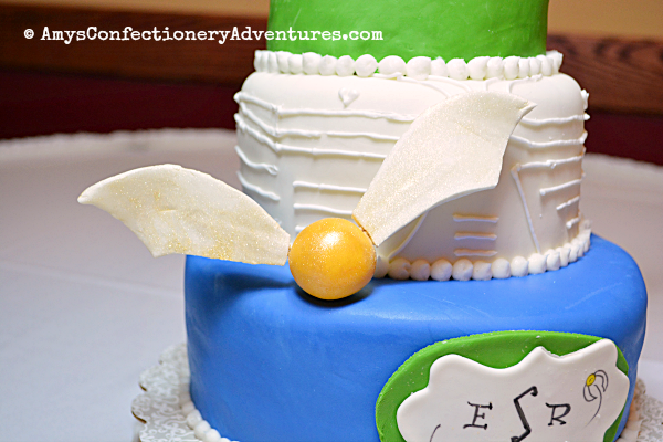 Amy S Confectionery Adventures Golden Snitch Wedding Cake