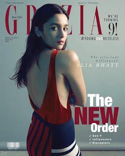 Alia Bhatt on the Cover Page of Grazia India magazine April 2017