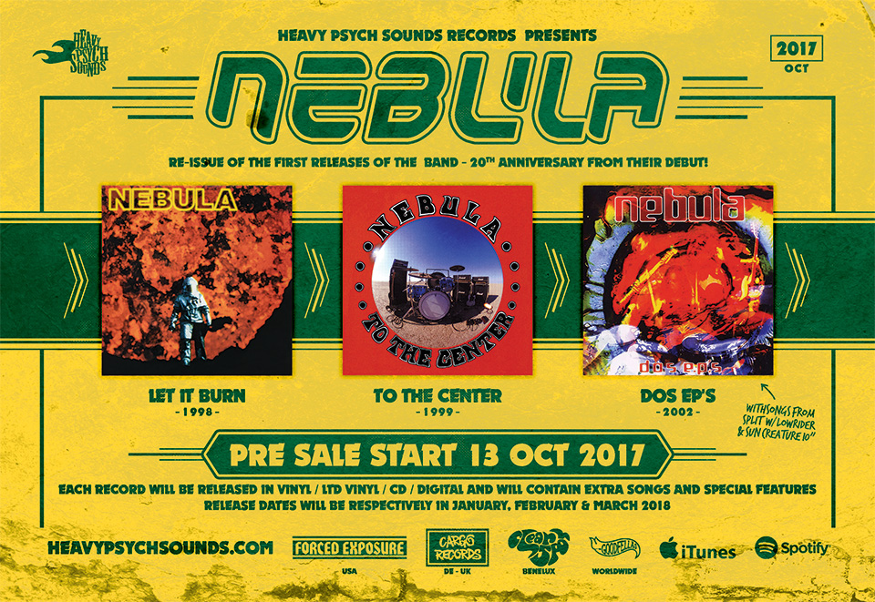 Nebula to reissue 'Let it Burn', 'To The Center' & 'Dos EPs
