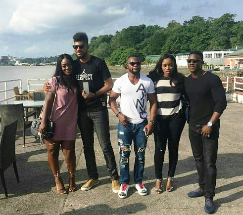 Big Brother Naija contestants hang out, including TTT and Bisola