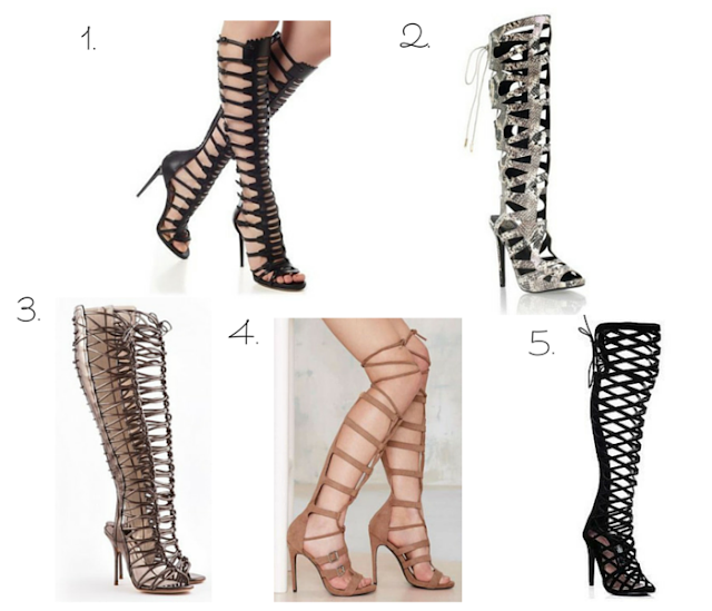 Cut Out Heeled Shoe Boots