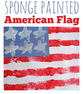 Sponge-Painted Flag