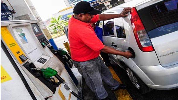 El coche no aparece de por la gasolina