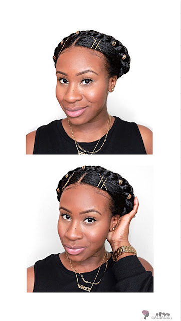 Easy Milkmaid Braids On Relaxed Hair | HairliciousInc.com