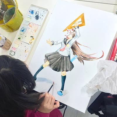 美術クラブ 横浜美術学院の中学生向け教室 ぜんぶ自分でつくる「自由制作」9
