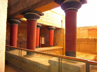 Grand staircase of the Palace of Knossos in Crete