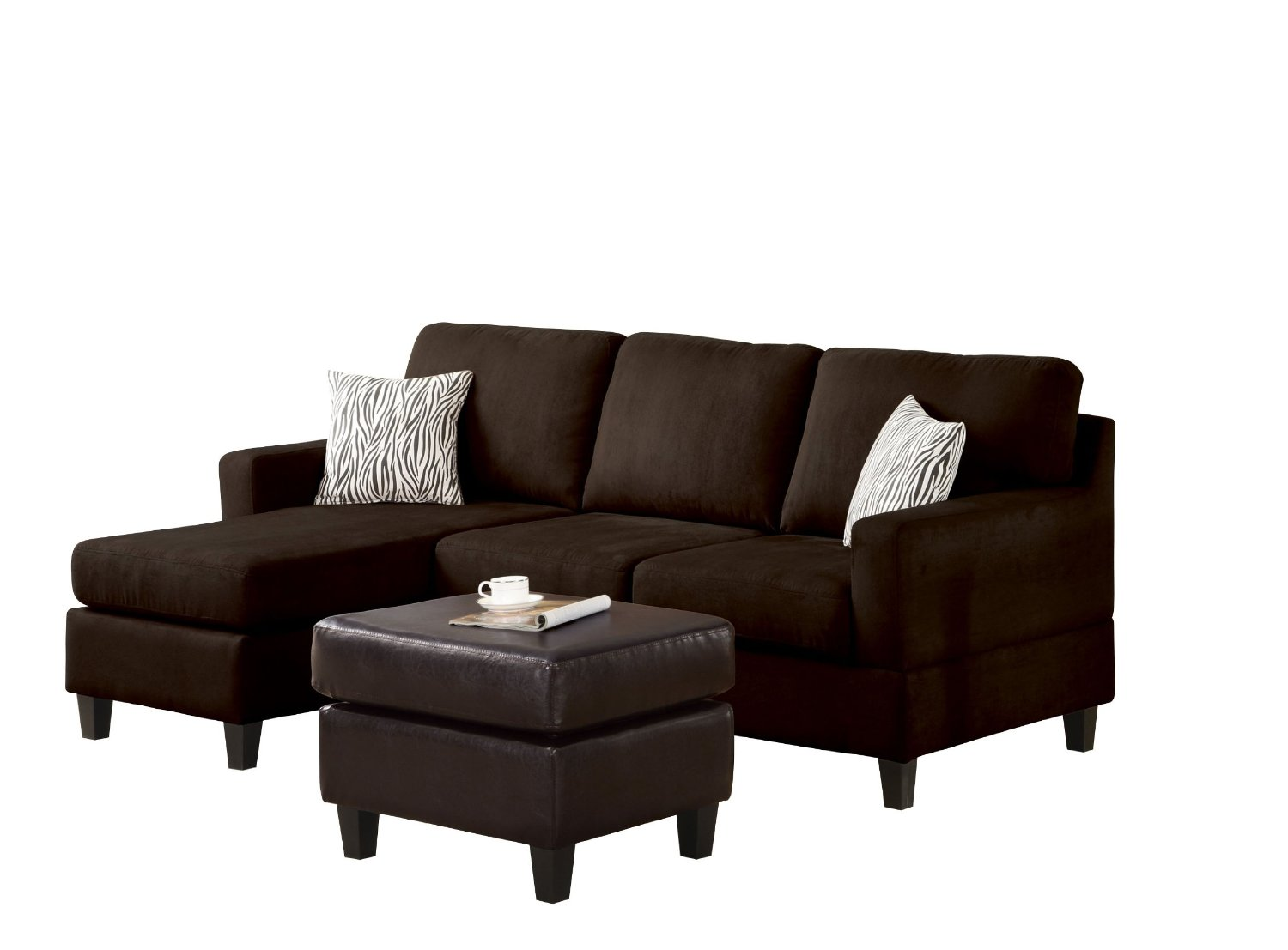 Simmons Reversible Chaise Sofa Microsuede Fabric Sevenmazon Funiture Store Bobkona Soft Touch
