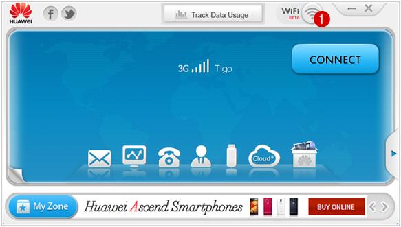 partager la connexion internet modem Huawei