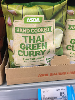 Asda Hand Cooked Thai Green Curry Crisps