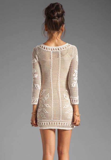 Crinochet Boss Orange Crochet Dress