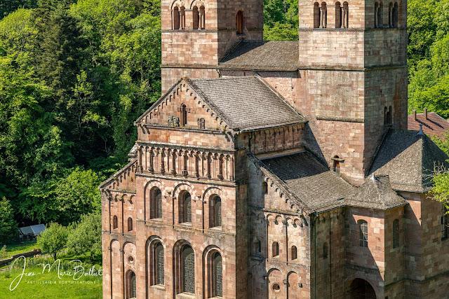 Abbaye de Murbach depuis la chapelle Notre Dame de Lorette (17e s.)