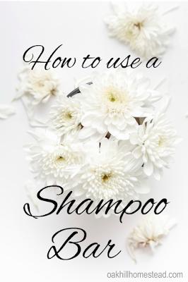 How to use a shampoo bar - tips and tricks. Oak Hill Homestead