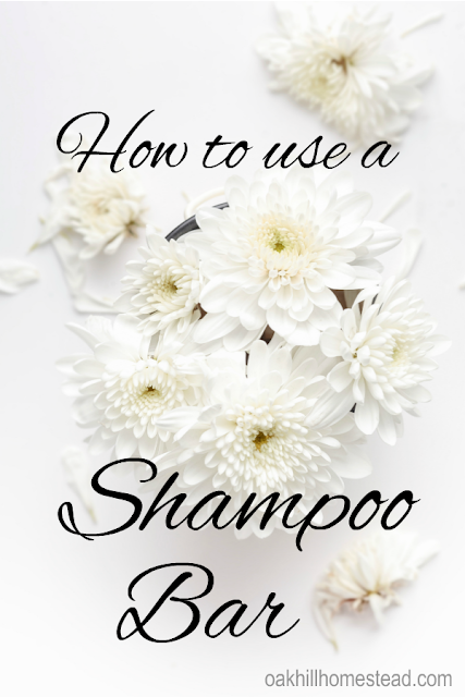 How to use a shampoo bar - tips and tricks. Oak Hill Homestead