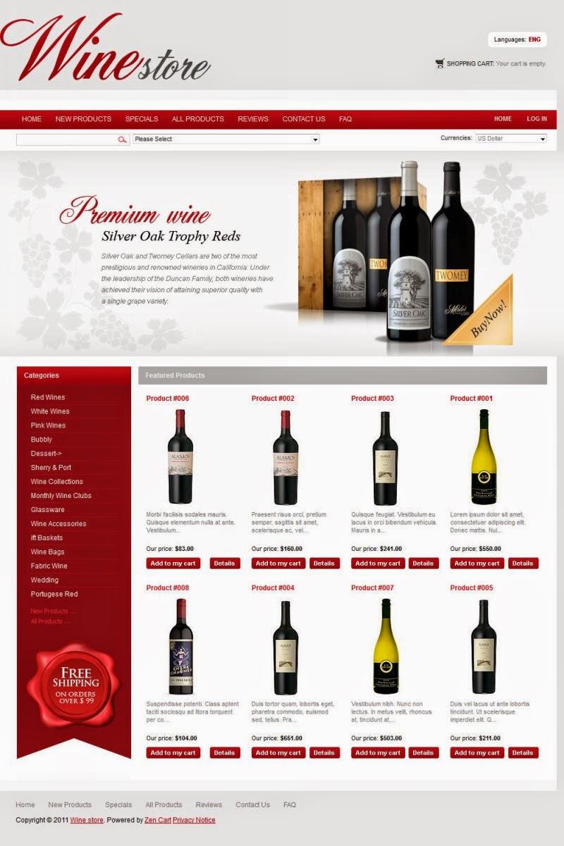 thiết kế website bán hàng rượu