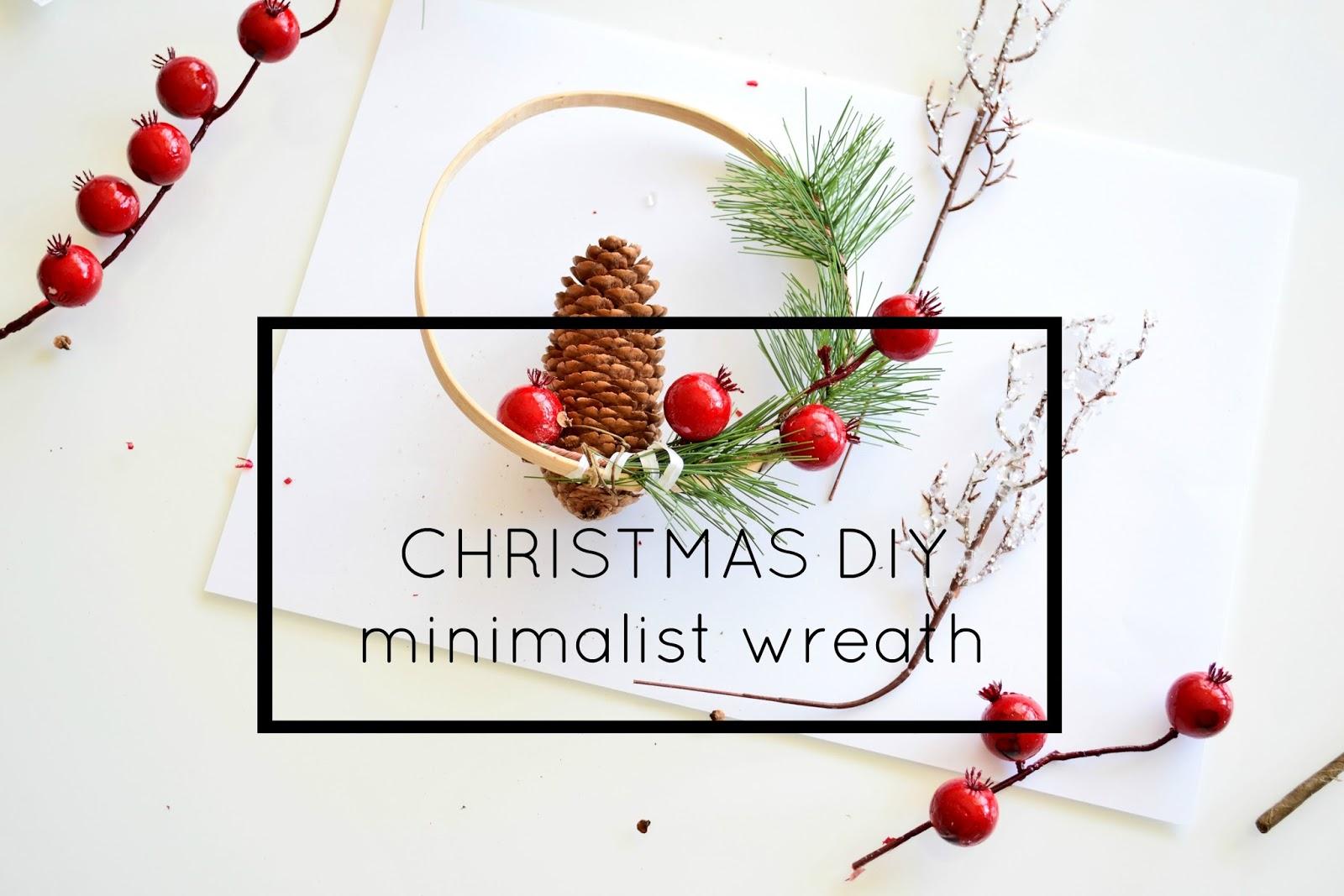 DIY Minimalistyczny Wianek Świąteczny