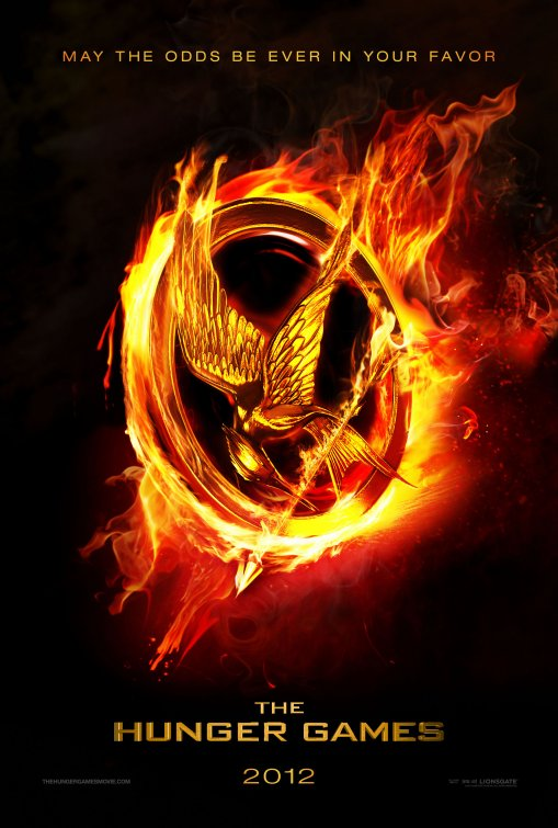 Poster of The Hunger Games 2012 BRRip 480p 300MB Dual Audio In Hindi English Movie Download Yts