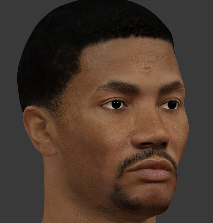 NBA 2K14 Derrick Rose HD Face Texture (2048x2048)