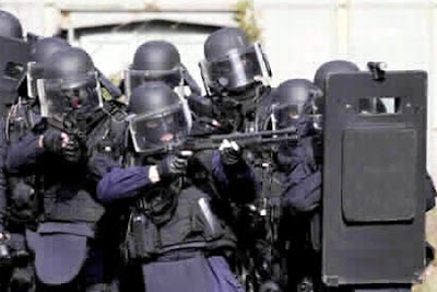 gign soldiers with shield