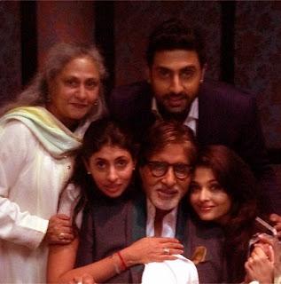 Aishwarya-Abhishek-Shweta-Amitabh-Jaya Bachchan