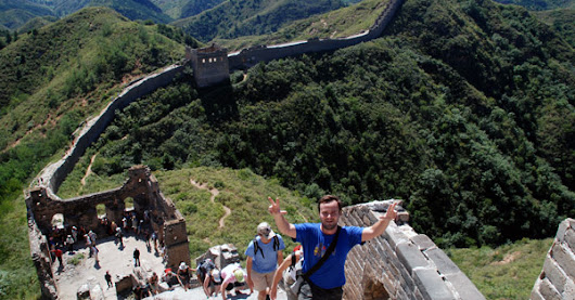China, The Great Wall, Hiking a real wonder of the world.