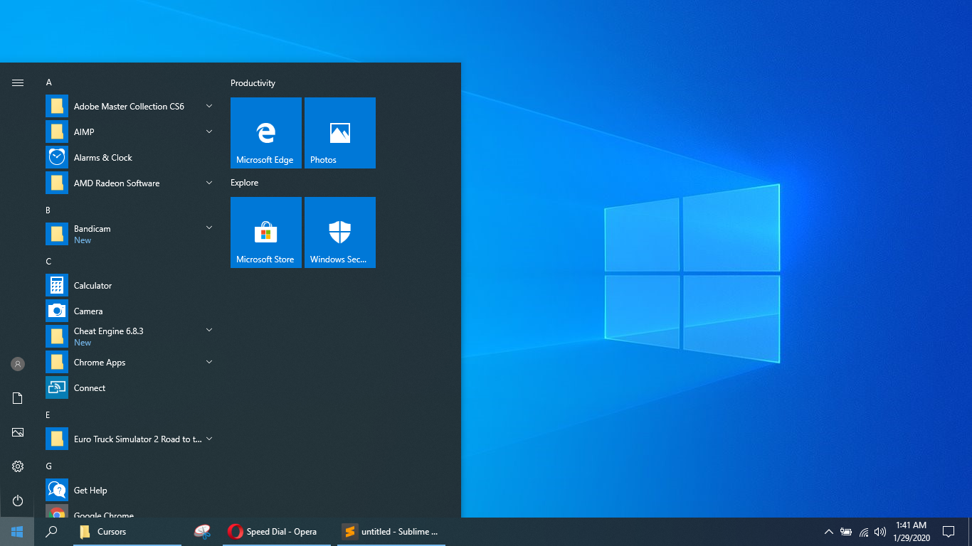 Settingan Pada Menu Start Windows 10