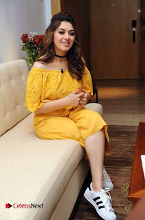 Actress Hansika Motwani Latest Stills in Yellow Dress  0006.jpg