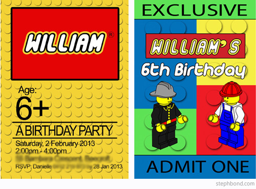 Bondville Lego Party For 6 Year Old William